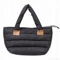 Fashion custom women′s canvas leather handle tote bag 6