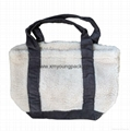 Fashion custom women′s canvas leather handle tote bag 8