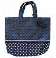 Fashion custom women′s canvas leather handle tote bag 10