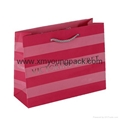 Luxury customized recycled rope handle art paper shopping bag