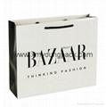 Personalized custom printed luxury matt black paper carrier bag