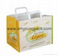 Luxury custom printed twisted handle white kraft paper bag 3
