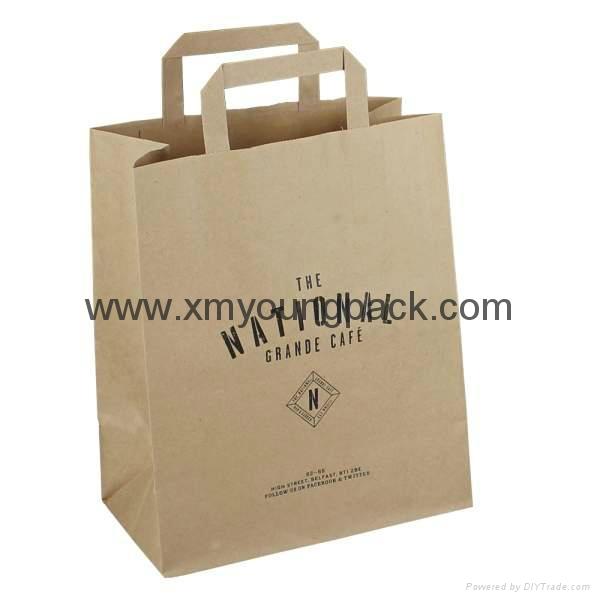 Luxury custom printed twisted handle white kraft paper bag 4