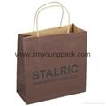 Luxury custom printed twisted handle white kraft paper bag
