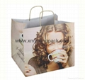 Luxury custom printed twisted handle white kraft paper bag