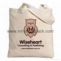 Promotional calico bag custom printed reusable 100% natural cotton canvas bag