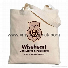 Promotional calico bag custom printed reusable 100% natural cotton canvas bag (Hot Product - 1*)