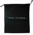 Personalized custom printed black brushed cotton flannel dust bag for handbag