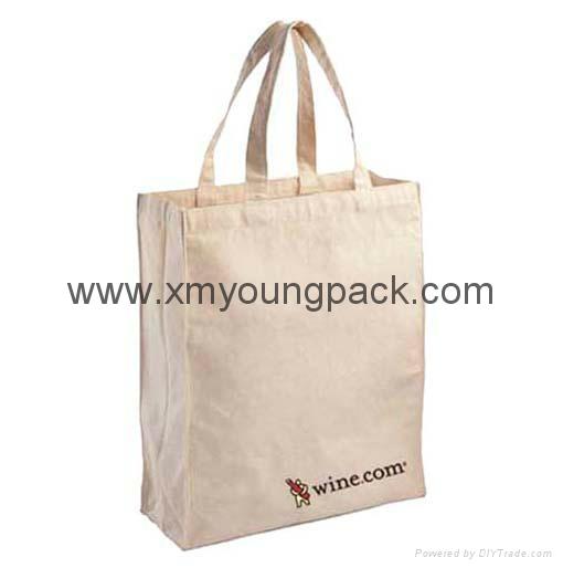 Promotional custom eco friendly reusable cotton shopping bag 3