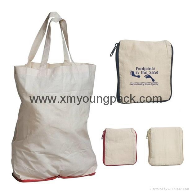 Promotional custom eco friendly reusable cotton shopping bag 5
