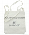 Custom classic 10oz cotton canvas library tote book bag for school