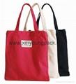 Custom classic 10oz cotton canvas library tote book bag for school