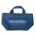 Fashion personalized custom design recycled jeans bag tote denim bag 1