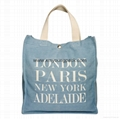 Fashion personalized custom design recycled jeans bag tote denim bag 3