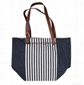 Fashion personalized custom design recycled jeans bag tote denim bag 4