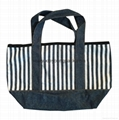 Fashion personalized custom design recycled jeans bag tote denim bag 5