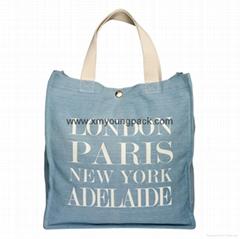 Fashion personalized custom designer recycled women's denim handbag