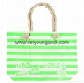 Personalized custom large cotton canvas summer essential beach bag
