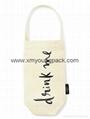 Fashion promotional custom jute burlap wine gift bags