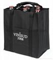 Promotional custom hessian jute wine gift bag 13