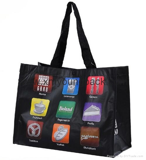 Fashion custom printed recycled NWPP large boutique bag 3