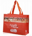 Fashion custom printed recycled NWPP large boutique bag 5