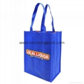 Wholesale cheap custom reusable NWPP single bottle wine carry bags 4