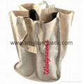 Wholesale cheap custom reusable NWPP single bottle wine carry bags 8