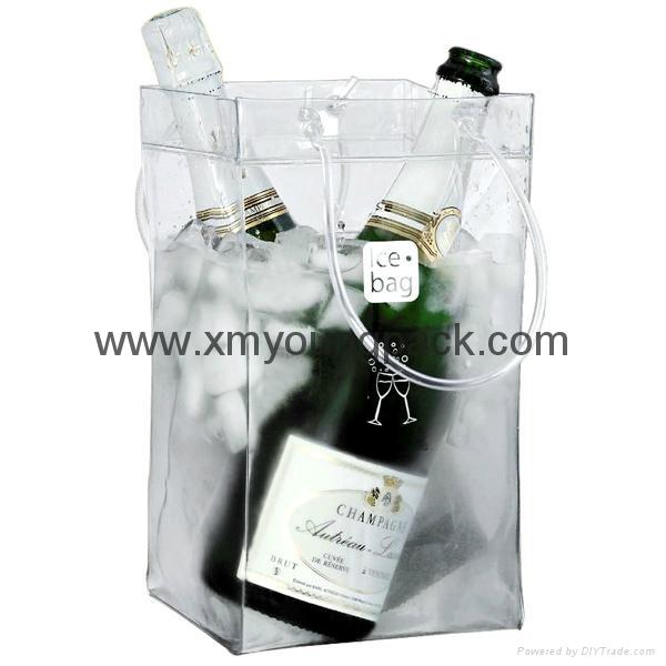 Wholesale cheap custom reusable NWPP single bottle wine carry bags 12