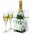 Wholesale cheap custom reusable NWPP single bottle wine carry bags 11