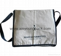 Promotional custom calico flat standard messenger bag