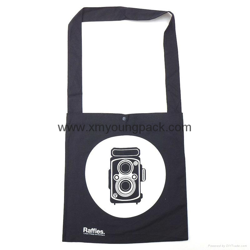 Promotional custom non woven polypropylene flap satchel bag 2