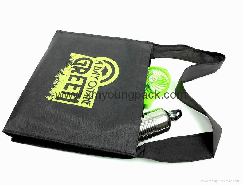 Promotional custom non woven polypropylene flap satchel bag 4