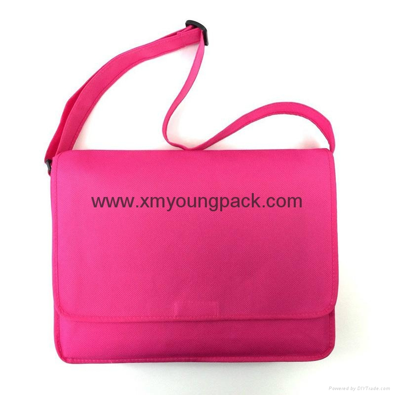 Promotional custom non woven polypropylene flap satchel bag 5