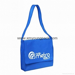 Promotional custom non woven polypropylene flap satchel bag