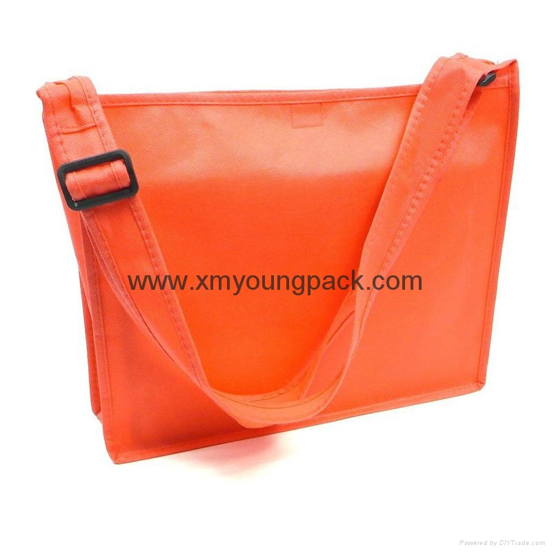 Promotional custom non woven polypropylene flap satchel bag 7