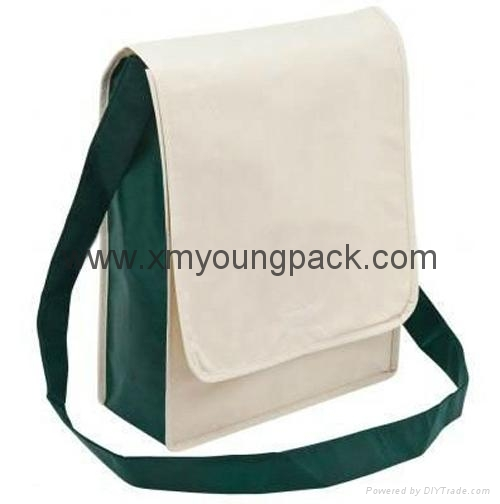 Promotional custom non woven polypropylene flap satchel bag 9