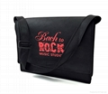 Personalized custom printed large felt shoulder messenger bag 7