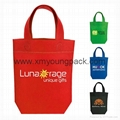 Non-woven budget cheap promotional A4 tote bags