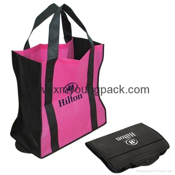 Promotion eco-friendly foldable non woven bag 1