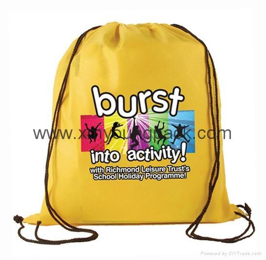 Promotional custom nylon drawstring cinch backpack bag 6