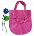 Promotional custom reusable foldable nylon tote bag