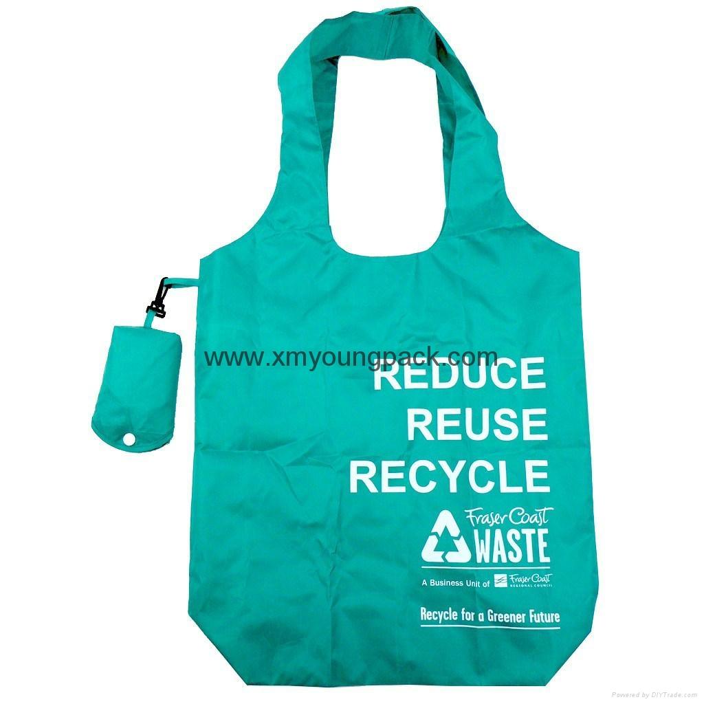 Custom nylon fold up shopping tote bag promotional bag - China - 37129a43e