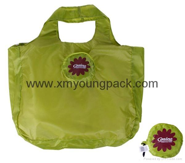 Wholesale cheap reusable nylon folding strawberry shopping bags 4