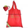 Wholesale cheap reusable nylon folding strawberry shopping bags 5