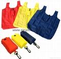 Wholesale cheap reusable nylon folding strawberry shopping bags 9