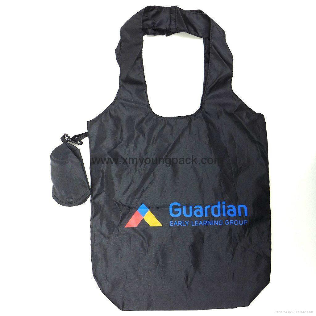 Wholesale cheap reusable nylon folding strawberry shopping bags 11