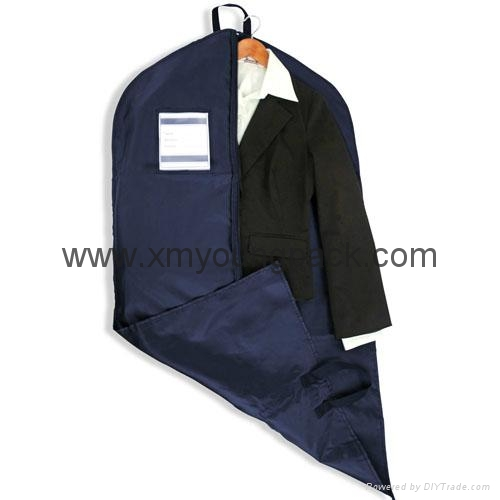Personalized custom printed black non woven suit cover garment bag 7