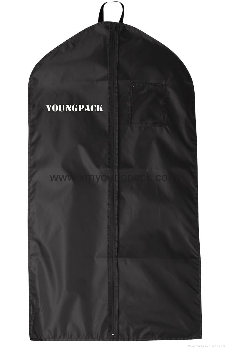 Personalized custom printed black non woven suit cover garment bag 8