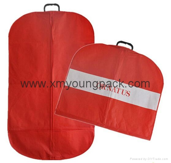 Personalized custom printed black non woven suit cover garment bag 9